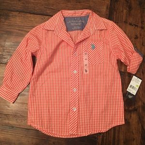 NEW! U.S. Polo Association Checkered Shirt